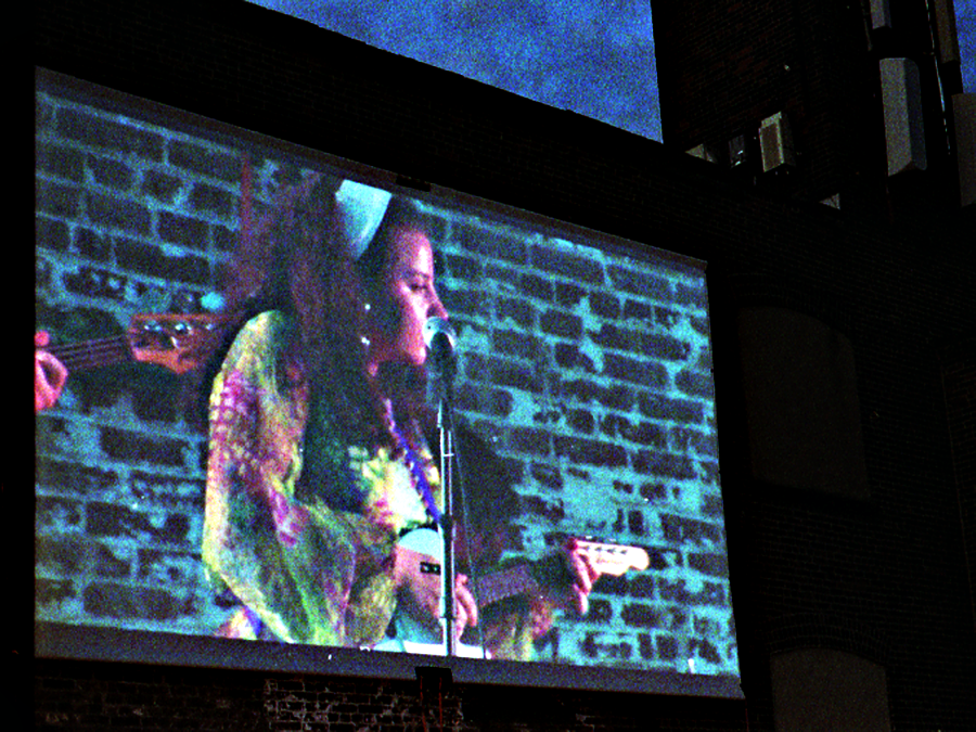 Annique on the big screen.
