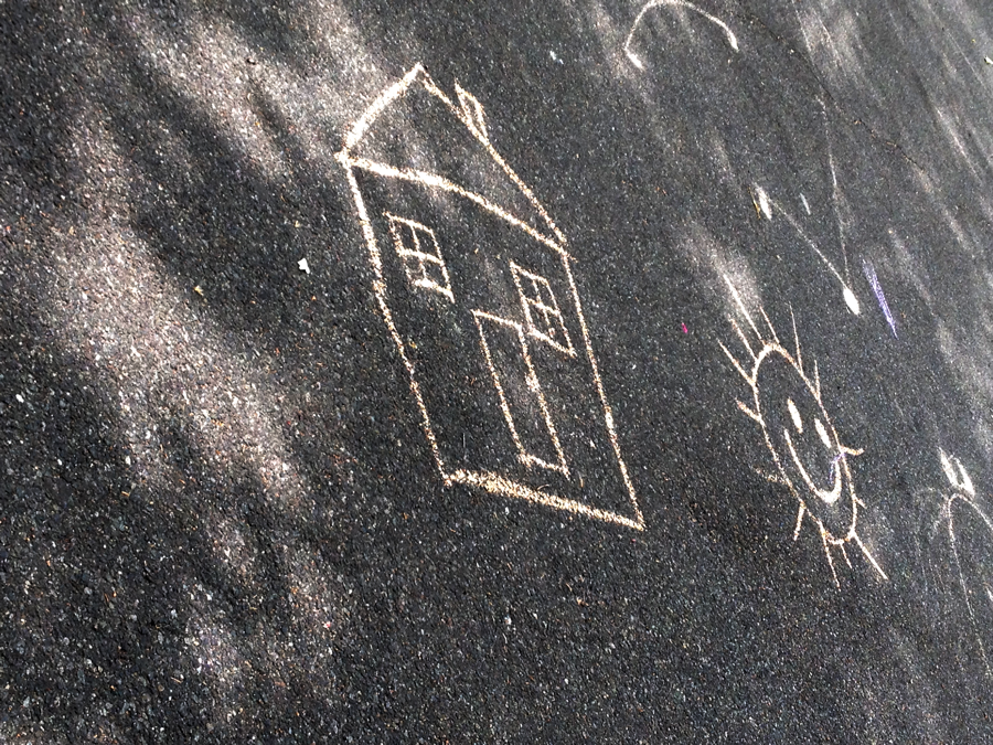Playground chalk drawing, 128th Street and Lexington.