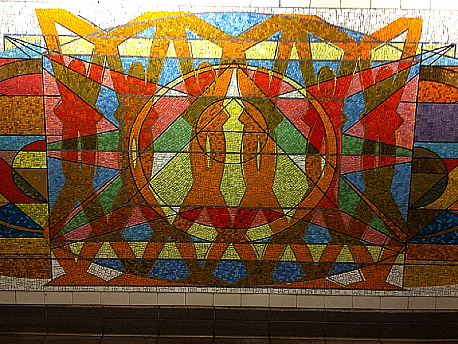 Mosaic at 125th Street and Lex.